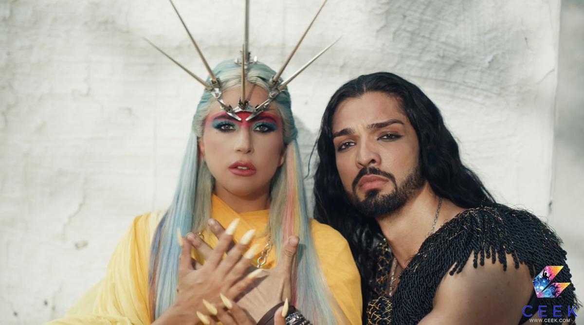 "Lady Gaga and Sia Zami in ""911,"" directed by Tarsem Singh. Cr: CEEK"