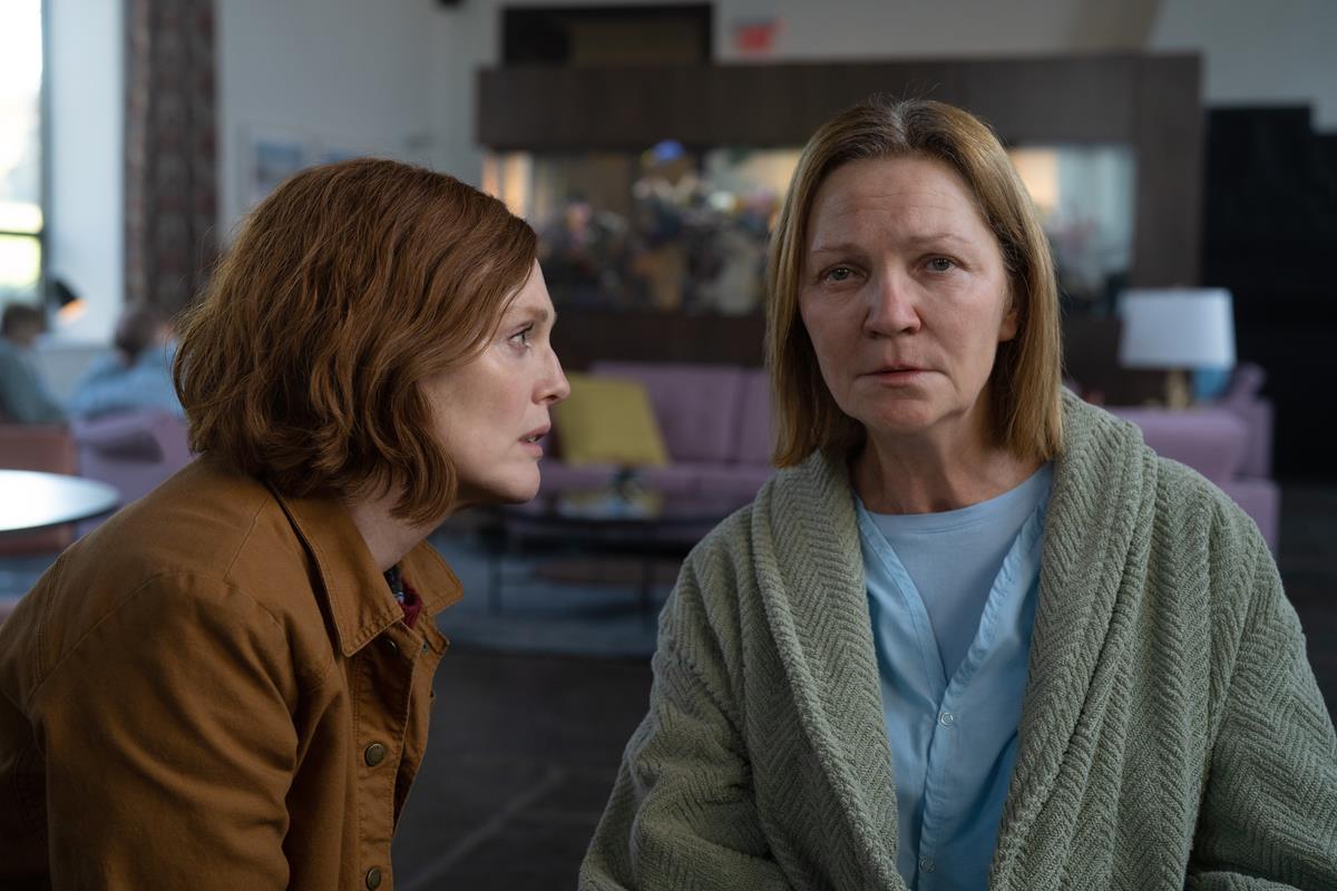 "Julianne Moore and Joan Allen in ""Lisey's Story,"" now streaming on Apple TV+."