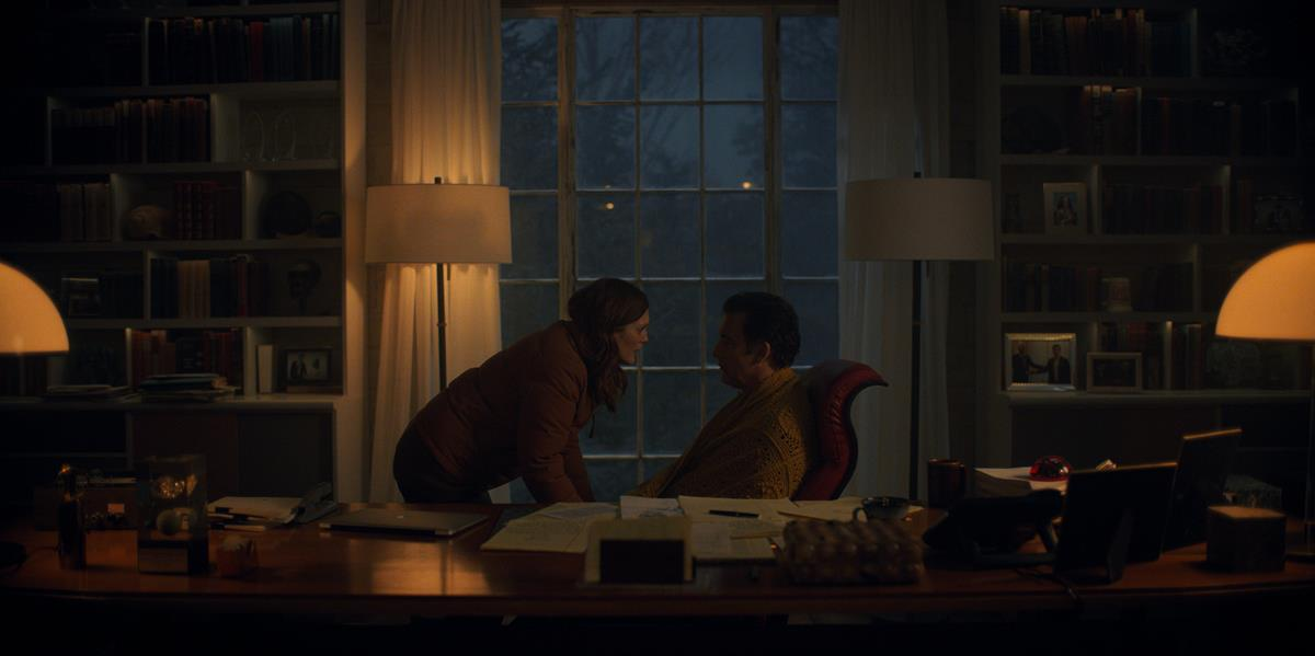 """Julianne Moore and Clive Owen in """"Lisey's Story,"""" now streaming on Apple TV+."""