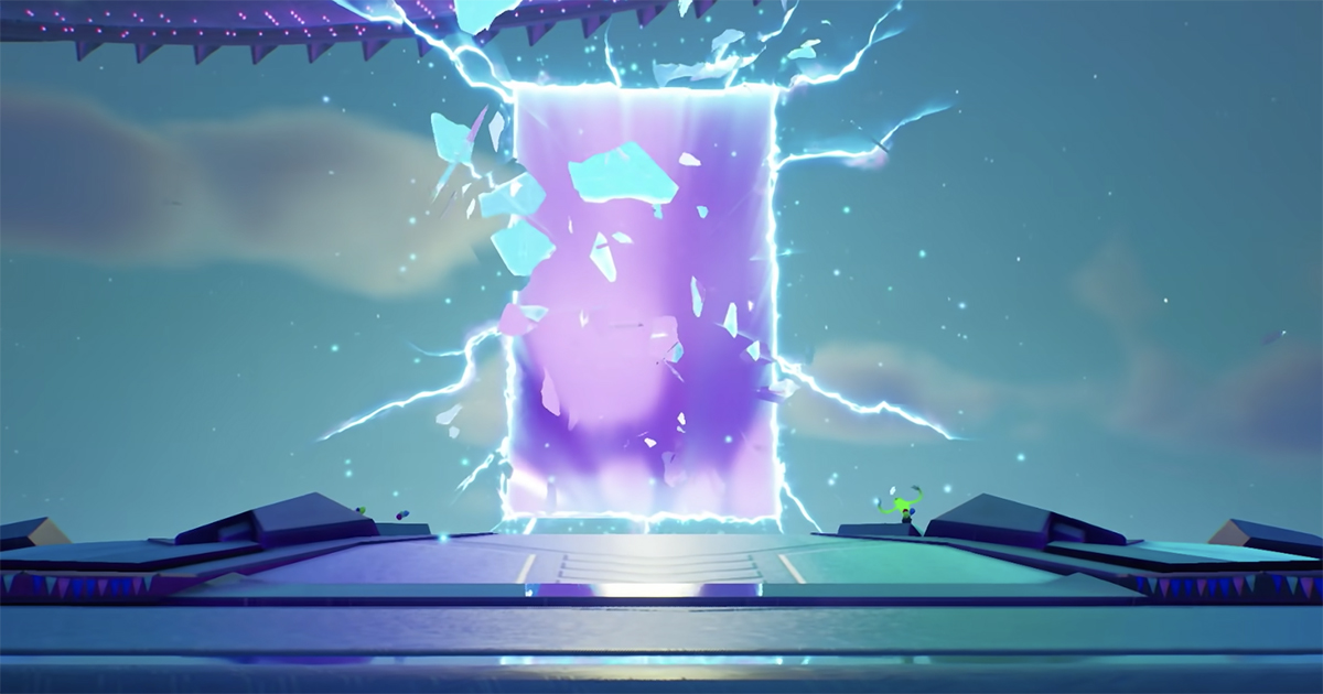 """A screenshot from the psychedelic Ariana Grande live experience on """"Fortnite."""" Cr: Epic Games"""