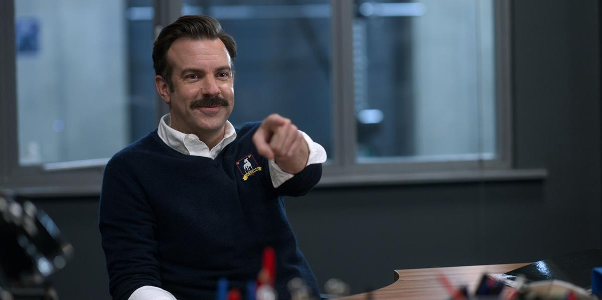 """Jason Sudeikis in """"Ted Lasso,"""" now streaming on Apple TV+."""