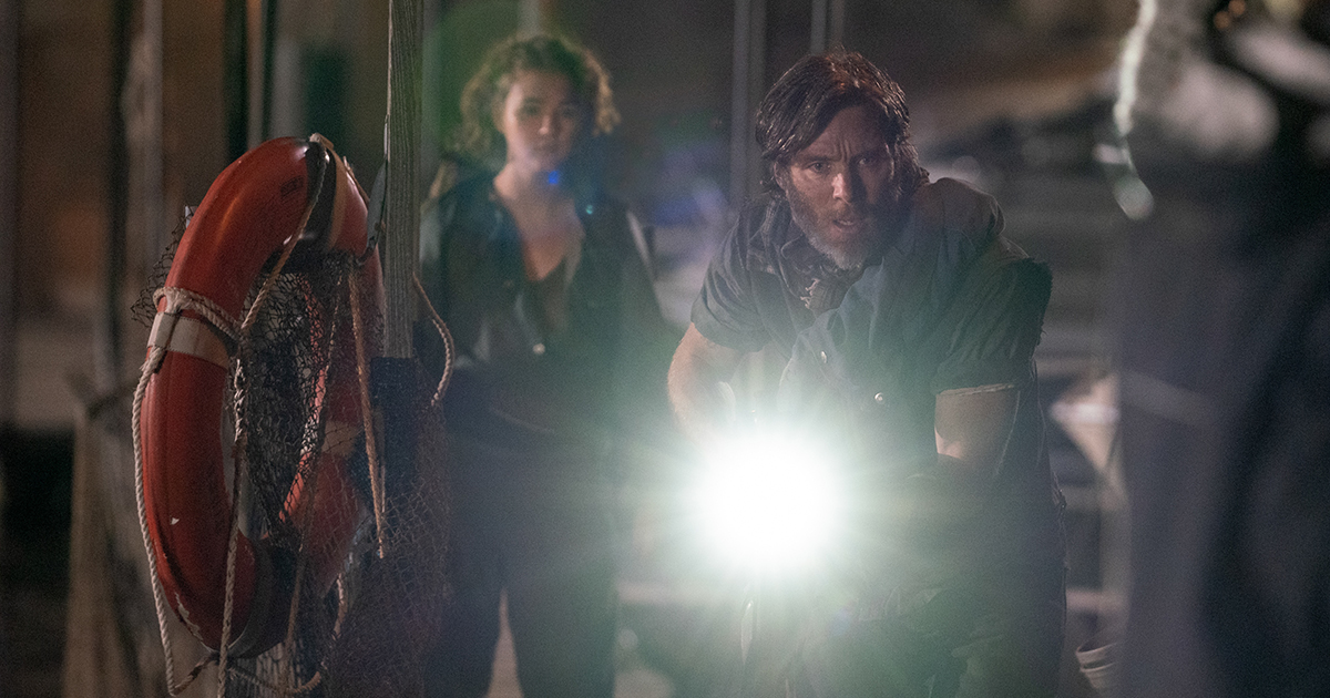 """Regan (Millicent Simmonds) and Emmett (Cillian Murphy) brave the unknown in """"A Quiet Place Part II."""""""