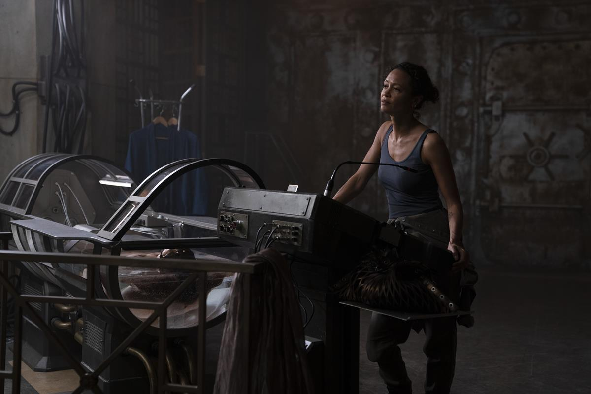 """Thandiwe Newton as Watts in """"Reminiscence."""" Cr: Warner Bros. Pictures"""