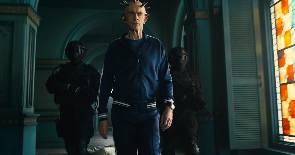 """Peter Capaldi as The Thinker in director James Gunn's """"The Suicide Squad."""" Cr: Warner Bros. Pictures/DC Comics"""
