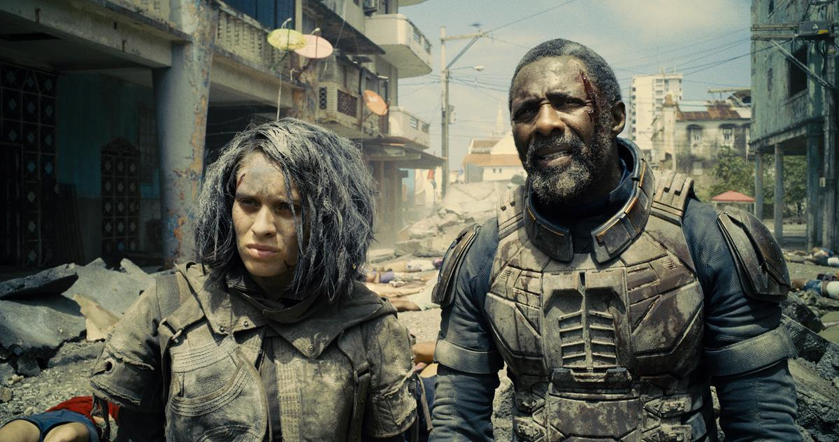 """Daniela Melchior as Ratcatcher 2 and Idris Elba as Bloodsport in director James Gunn's """"The Suicide Squad."""" Cr: Warner Bros. Pictures/DC Comics"""