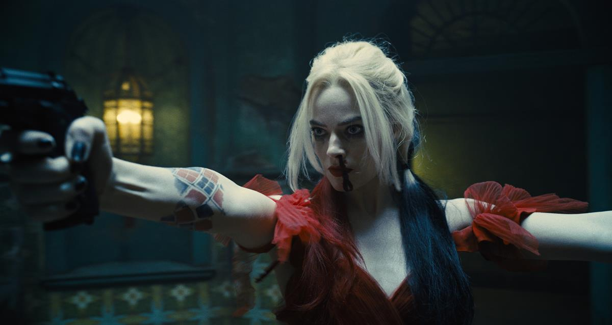 """Margot Robbie as Harley Quinn in director James Gunn's """"The Suicide Squad."""" Cr: Warner Bros. Pictures/DC Comics"""