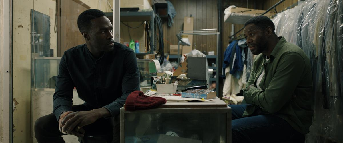"""Yahya Abdul-Mateen II as Anthony McCoy and Coleman Domingo as William Burke in """"Candyman."""" Cr: Universal Pictures"""