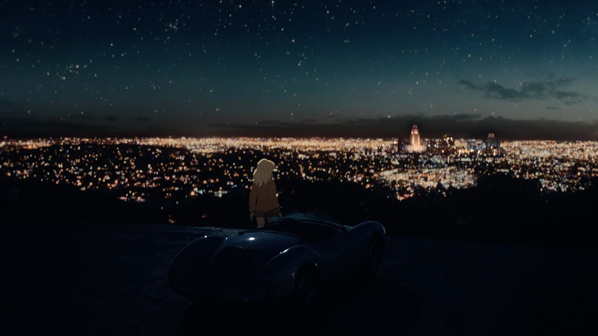 """Billie Eilish's cinematic concert experience, """"Happier Than Ever: A Love Letter To Los Angeles."""" Cr: Disney+"""