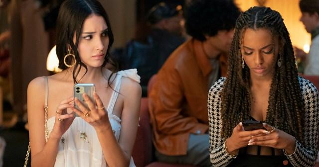 "Photograph by Karolina Wojtasik/HBO Max Zion Moreno and Lee Smith in HBO MAX's ""Gossip Girl"""