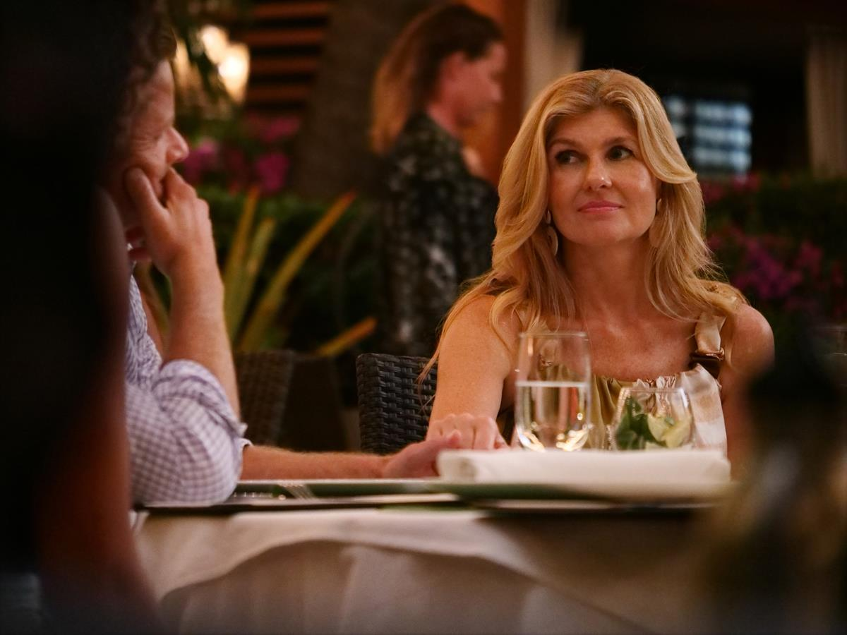 """Connie Britton as Nicole Mossbacher in Episode 5 of """"The White Lotus."""" Cr: HBO"""