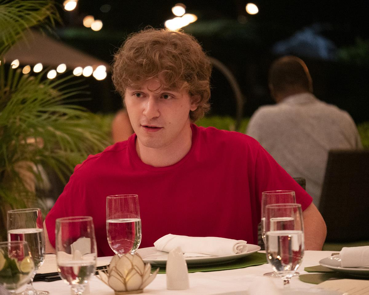 """Fred Hechinger as Quinn Mossbacher in Episode 5 of """"The White Lotus."""" Cr: HBO"""