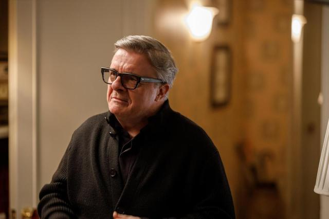 """Nathan Lane as Teddy in Episode 7 of """"Only Murders in the Building."""" Cr: Hulu"""