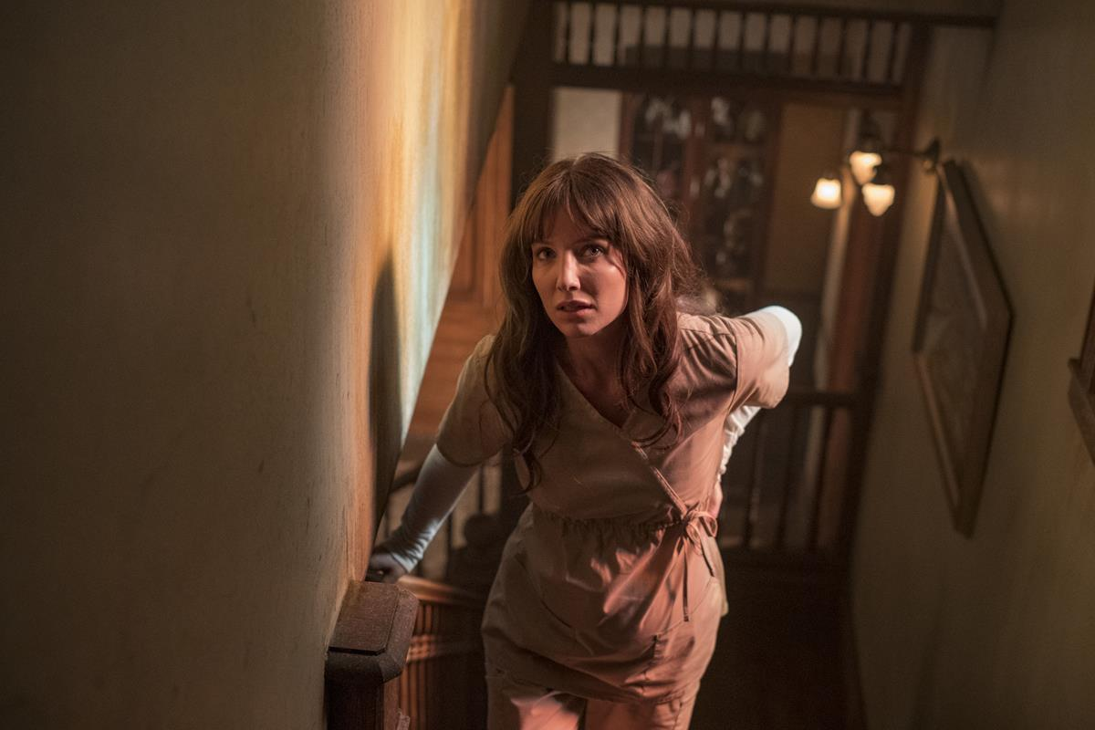 """Annabelle Wallis as Madison Mitchell in """"Malignant."""" Cr: Warner Bros. Pictures"""