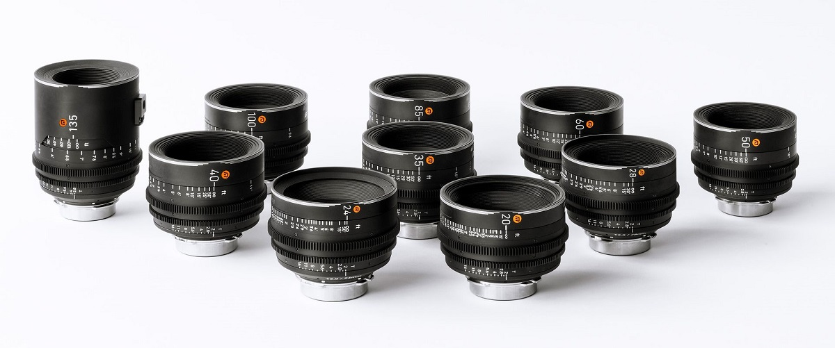 The ARRI Rental Moviecam lenses are available in 11 focal lengths ranging from 16mm to 135mm. Cr: ARRI Rental