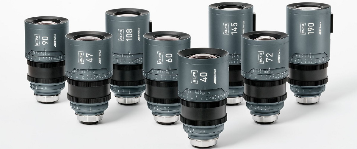 The ARRI ALFA series comprises eight lenses ranging from 40mm to 190mm. Cr: ARRI Rental
