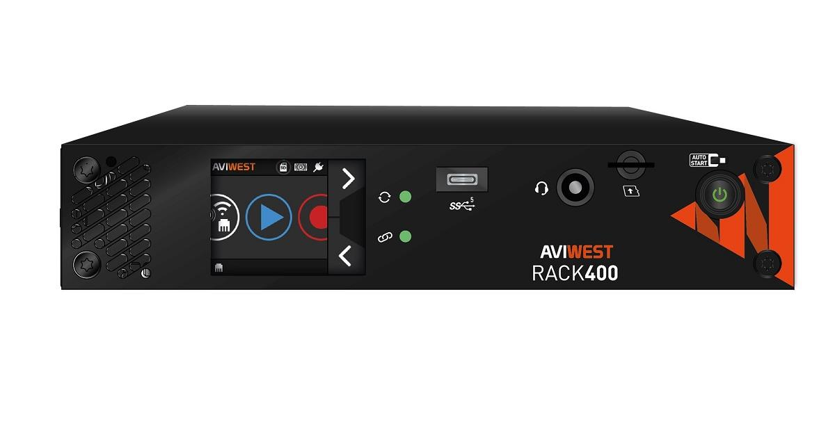 AVIWEST introduces its Rack 400 series of encoders for remote and at-home video production over unmanaged IP networks. Cr: AVIWEST