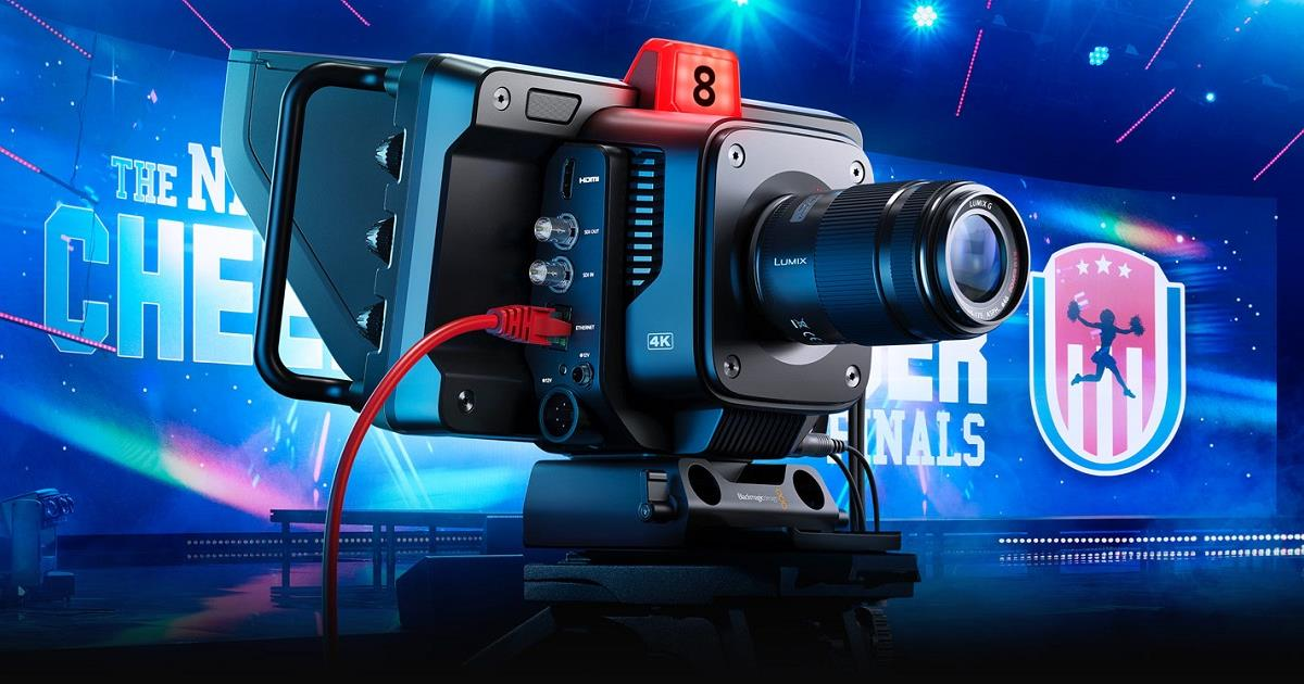 Blackmagic Studio Cameras have the same features as large studio cameras, miniaturized into a single compact and portable design. Cr: Blackmagic Design