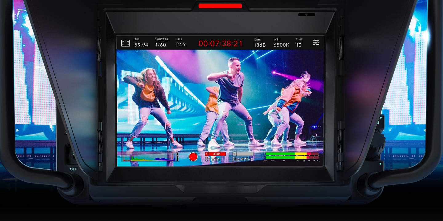 """The large 7"""" high resolution screen makes framing shots much easier. Cr: Blackmagic Design"""