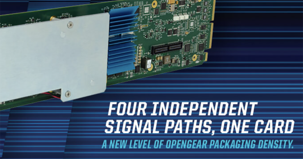 Cobalt Digital's new 9905-MPx multi-channel processor is designed to answer the need for handling and processing multiple video feeds. Cr: Cobalt Digital