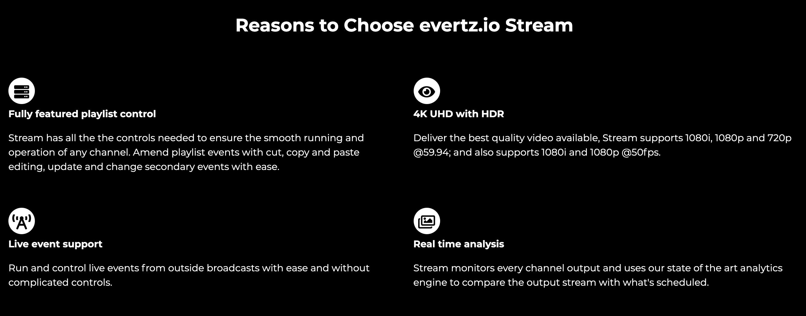 evertz.io Stream